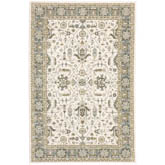 Oriental Weavers Andorra 9537P Ivory and Blue
