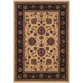 Oriental Weavers Ariana 130-7 Ivory and Black