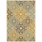 Oriental Weavers Bali 4904W Ivory and Grey