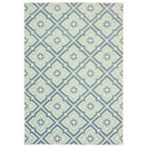 Oriental Weavers Barbados 1801H Blue and Ivory