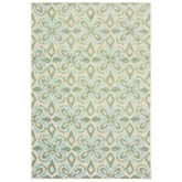 Oriental Weavers Barbados 5994J Ivory and Green