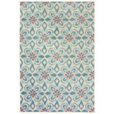 Oriental Weavers Barbados 5994Z Blue and Ivory