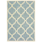 Oriental Weavers Barbados 6437J Blue and Ivory