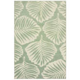 Oriental Weavers Barbados 8027Z Green and Ivory