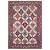 Oriental Weavers Bohemian 6997D Ivory and Pink