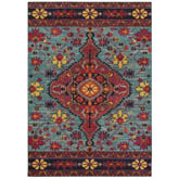 Oriental Weavers Bohemian 8222L Blue and Pink