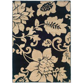 Oriental Weavers Camden 2235B Black and Ivory