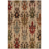 Oriental Weavers Casablanca 4437A Ivory and Multi
