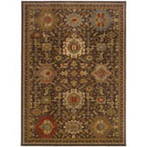 Oriental Weavers Casablanca 4444A Brown and Multi