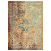 Oriental Weavers Dawson 8324A Rust and Gold