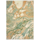 Oriental Weavers Dawson 8337A Green and Gold