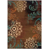 Oriental Weavers Emerson 2822A Brown and Blue