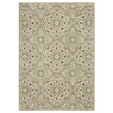 Oriental Weavers Florence 4334E Green and Ivory