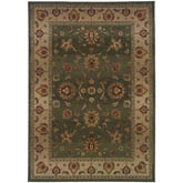 Oriental Weavers Genesis 034F1 Green and Beige