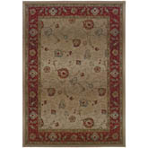 Oriental Weavers Genesis 521J1 Beige and Red