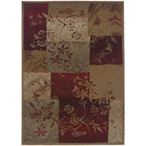Oriental Weavers Genesis 080X1 Red and Beige