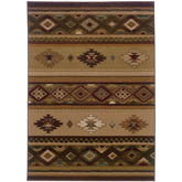 Oriental Weavers Genesis 090J1 Beige and Green