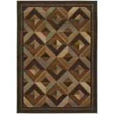 Oriental Weavers Genesis 956Q1 Brown and Beige