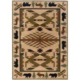 Oriental Weavers Hudson 1072A Ivory and Green