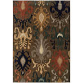 Oriental Weavers Kasbah 3830D Brown and Navy