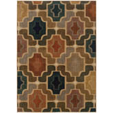 Oriental Weavers Kasbah 3838B Gold and Multi