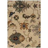 Oriental Weavers Kasbah 3936F Ivory and Grey