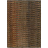 Oriental Weavers Kasbah 3951A Brown and Rust