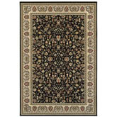 Oriental Weavers Kashan 108B1 Black and Ivory