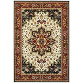 Oriental Weavers Kashan 096W1 Red and Ivory