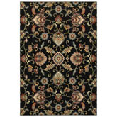 Oriental Weavers Kashan 9946K Black and Multi