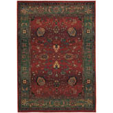 Oriental Weavers Kharma 807C4 Red and Green
