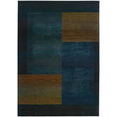 Oriental Weavers Kharma II 1092L Blue and Gold