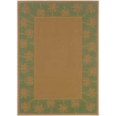Oriental Weavers Lanai 606F6 Beige and Green