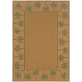 Oriental Weavers Lanai 606G6 Beige and Green