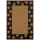Oriental Weavers Lanai 606K5 Beige and Black