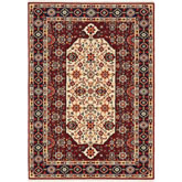 Oriental Weavers Lilihan 1802W Red and Ivory
