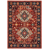 Oriental Weavers Lilihan 2061V Red and Blue