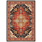 Oriental Weavers Lilihan 4929A Black and Red