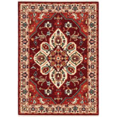 Oriental Weavers Lilihan 5502C Red and Ivory