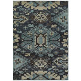 Oriental Weavers Linden 4302A Navy and Blue