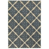 Oriental Weavers Linden 7816B Ivory and Blue