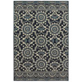 Oriental Weavers Linden 7842A Navy and Grey