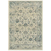 Oriental Weavers Linden 7909A Ivory and Blue
