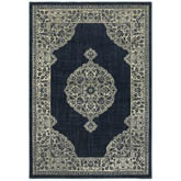 Oriental Weavers Linden 7937A Navy and Grey