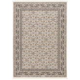 Oriental Weavers Maharaja 2061N Ivory and Grey