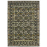 Oriental Weavers Mantra 507N7 Grey and Gold
