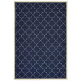 Oriental Weavers Marina 6025P Navy and Ivory