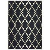 Oriental Weavers Marina 7763K Black and Ivory