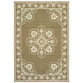 Oriental Weavers Marina 7764J Tan and Ivory
