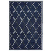 Oriental Weavers Marina 7765B Navy and Ivory